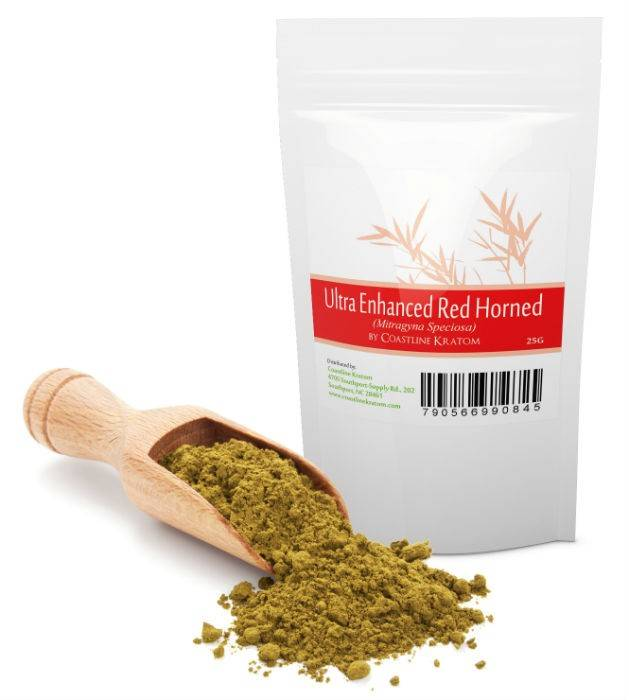 Coastline Kratom's Ultra Enhanced Red Horned