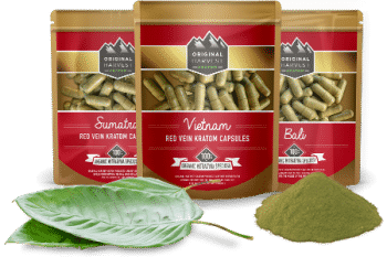 Red Vein Kratom Capsules by Original Harvest