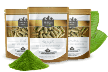 White Vein Kratom Capsules by Original Harvest