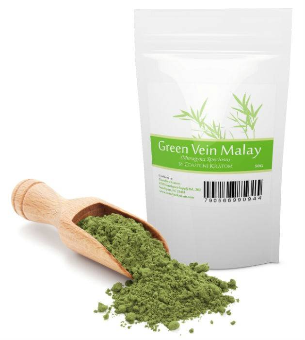 COASTLINE KRATOM GREEN VEIN MALAY KRATOM